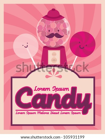 candy template vector/illustration