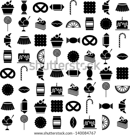 candy vector icons set