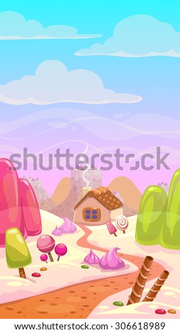 candy world illustration