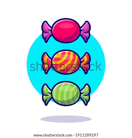 Candy Wrapper Cartoon Vector Icon Illustration. Food Object Icon Concept Isolated Premium Vector. Flat Cartoon Style Stockfoto ©