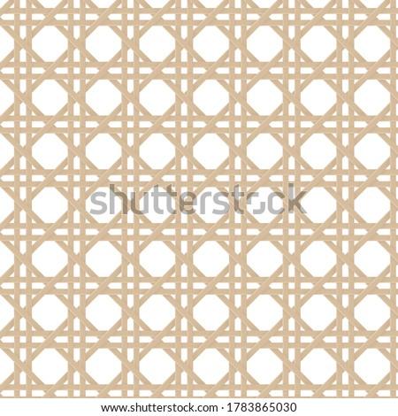 Cane webbing illustration vector pattern Photo stock ©