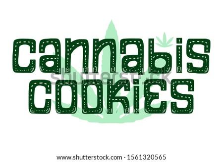 cannabis cookies card hand