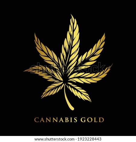 cannabis gold premium logo