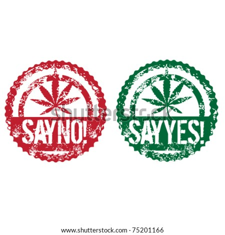 cannabis grunge stamps