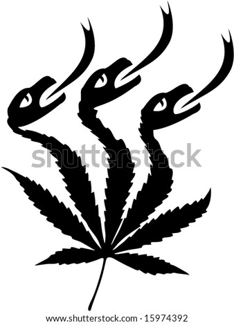 stock vector : Cannabis hallucination tattoo, t-shirt design