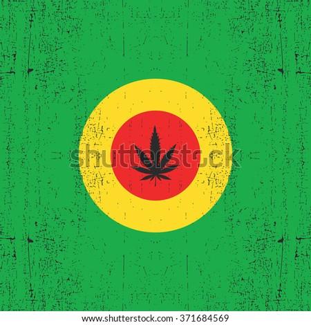 cannabis leaf on circle