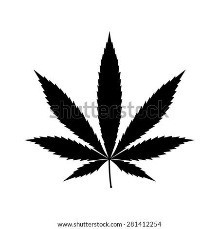 cannabis  marijuana  leaf flat
