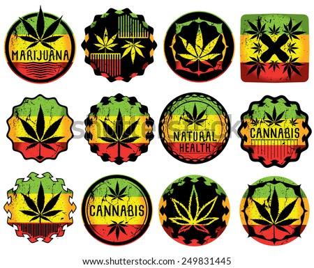 cannabis marijuana leaf symbol