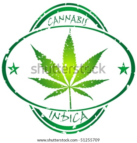 cannabis stamp isolated on white background, abstract vector art illustration
