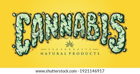 cannabis text smoke element