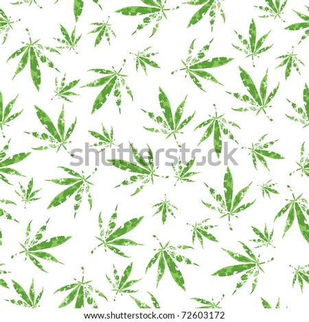 cannabis vector pattern