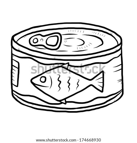 a tin of tunz Colouring Pages