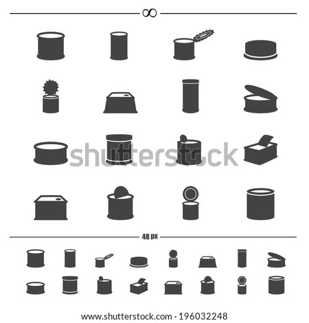 canned food icons.vector eps10