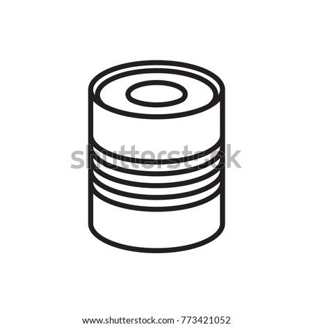 canned food vector icon
