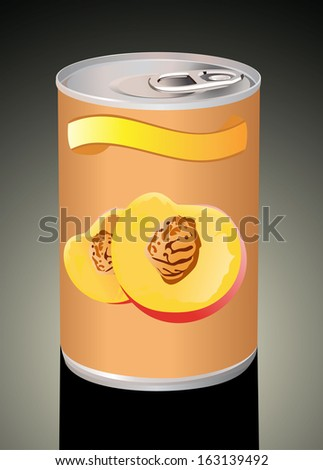 canned peaches.