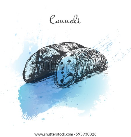 cannoli watercolor effect