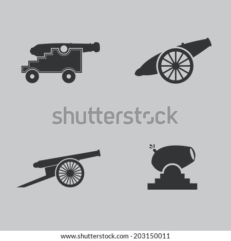 cannon icons set