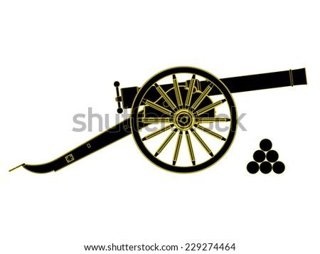 cannon 18 th century  vector