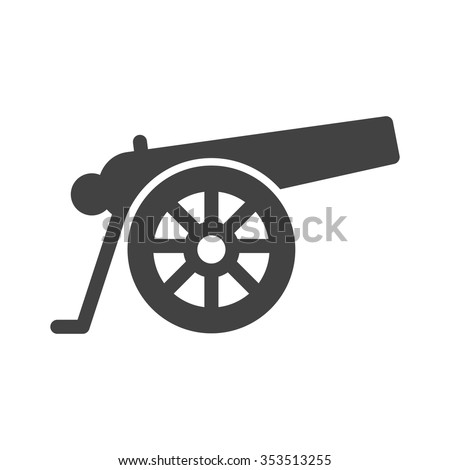cannon  war  weapon icon vector