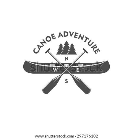 canoe adventure. badge  design...