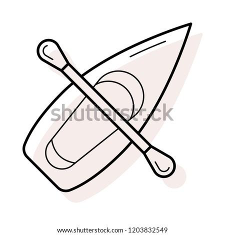 canoe   boat  paddle   #1203832549
