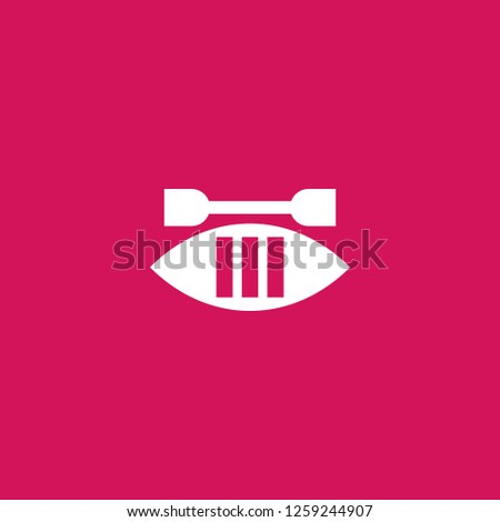 canoe icon vector. canoe sign on pink background. canoe icon for web and app