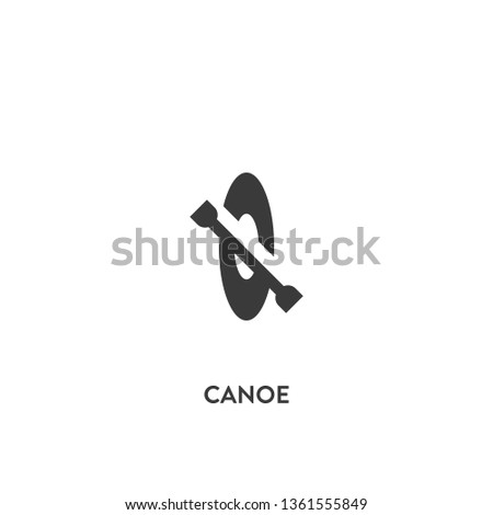canoe icon vector. canoe sign on white background. canoe icon for web and app