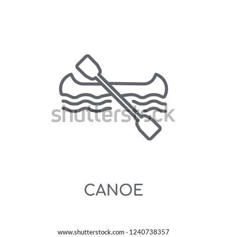 Canoe linear icon. Modern outline Canoe logo concept on white background from Architecture and Travel collection. Suitable for use on web apps, mobile apps and print media.