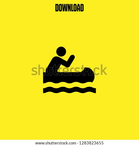 canoe racing icon vector. canoe racing vector graphic illustration
