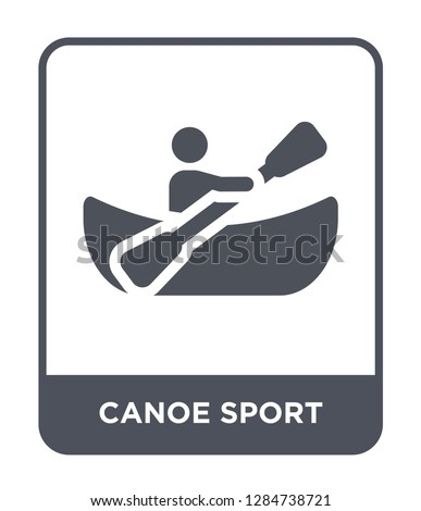 canoe sport icon vector on white background, canoe sport trendy filled icons from Sport collection, canoe sport vector illustration