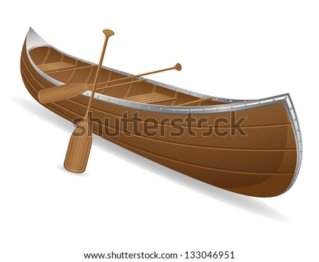 canoe vector illustration isolated on white background
