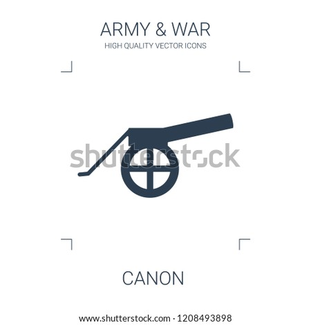canon icon. high quality filled canon icon on white background. from war collection flat trendy vector canon symbol. use for web and mobile
