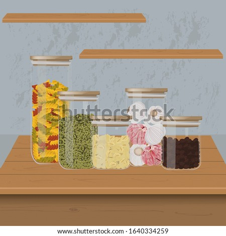 cans of food on the kitchen