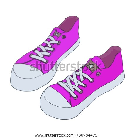 canvas shoes vector footwear
