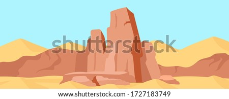 canyon flat color vector