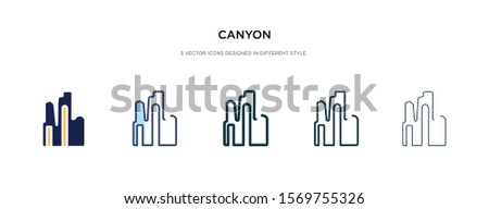 canyon icon in different style