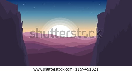 canyon vector illustration in a