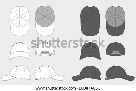 Hat template download free vector art stock graphics images cap template maxwellsz