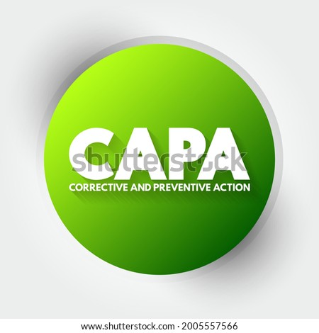 CAPA - Corrective and preventive action acronym, business concept background Stock fotó ©