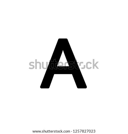 capital a icon vector. capital a vector graphic illustration