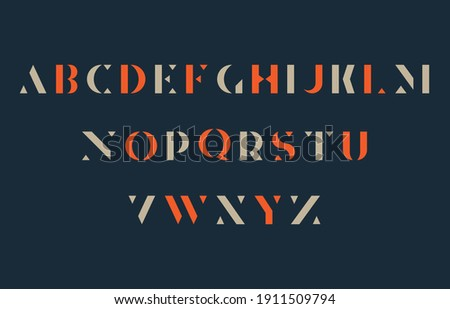 capital alphabet lettering a to z font family Stock fotó ©