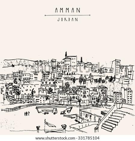 capital city of amman  jordan ...