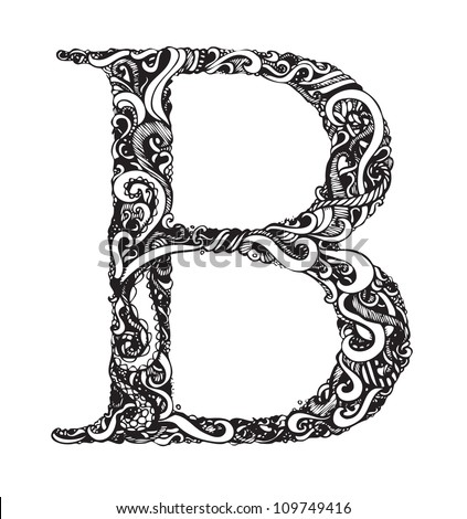 Capital Letters in Calligraphy Capital Letter b