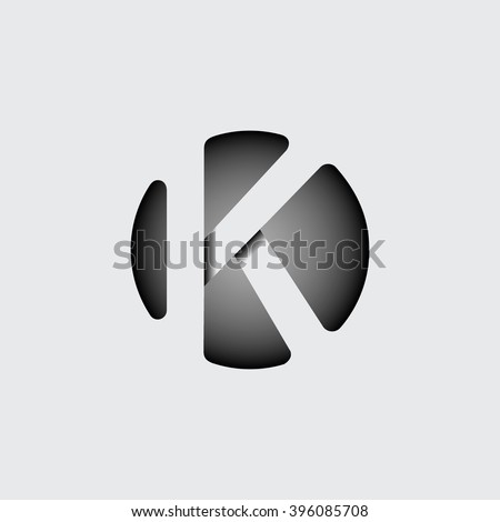 capital letter k made of wide