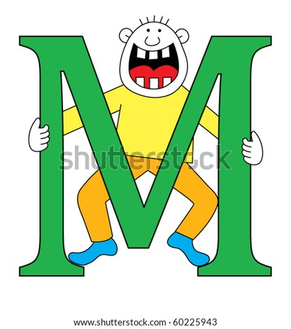 Capital Letter M Capital letter M with a child