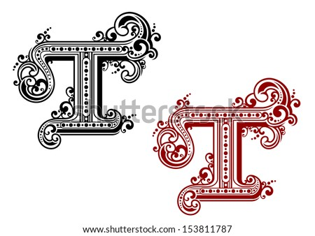 Capital Letter T In Retro Style For Design Or Idea Of Logo Jpeg Version Also