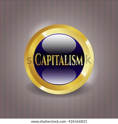 Capitalism gold emblem