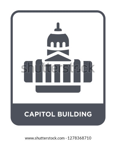 capitol building icon vector on white background, capitol building trendy filled icons from Buildings collection, capitol building vector illustration