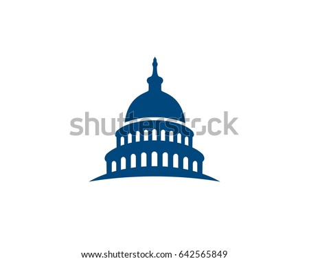 Capitol building logo icon
