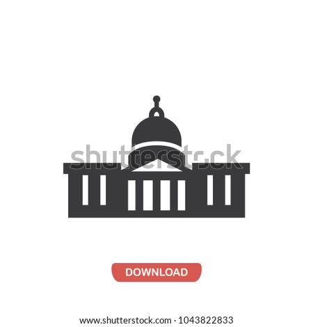 Capitol Building vector icon